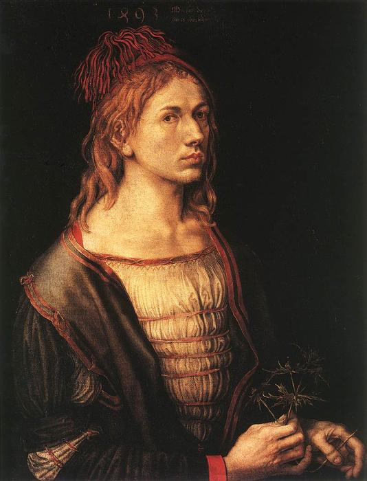 famous painting autoritratto a 22   of Albrecht Durer