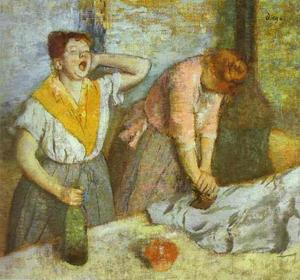 Edgar Degas - donne stiro