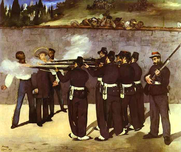 famous painting L esecuzione dell imperatore Massimiliano del Messico of Edouard Manet