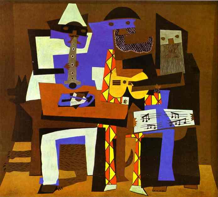 famous painting tre musicisti of Pablo Picasso