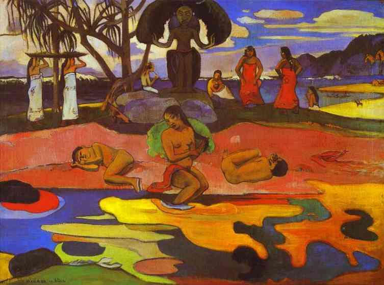 famous painting Mahana no atua ( giorno di dio ) of Paul Gauguin
