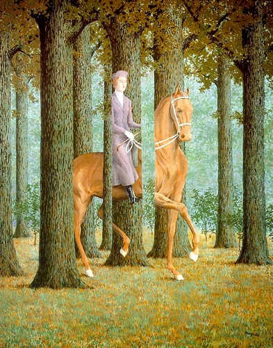 | the blank check di Rene Magritte | AllPaintingsStore.com