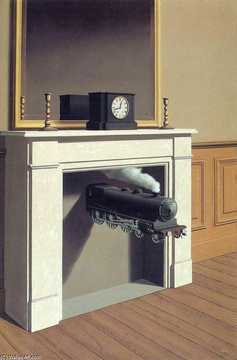 famous painting Tempo trafitto of Rene Magritte