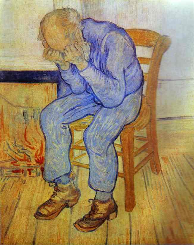 famous painting anziano contro  dolore  of Vincent Van Gogh