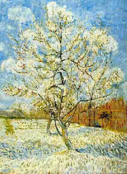 famous painting pesca albero in fiore of Vincent Van Gogh