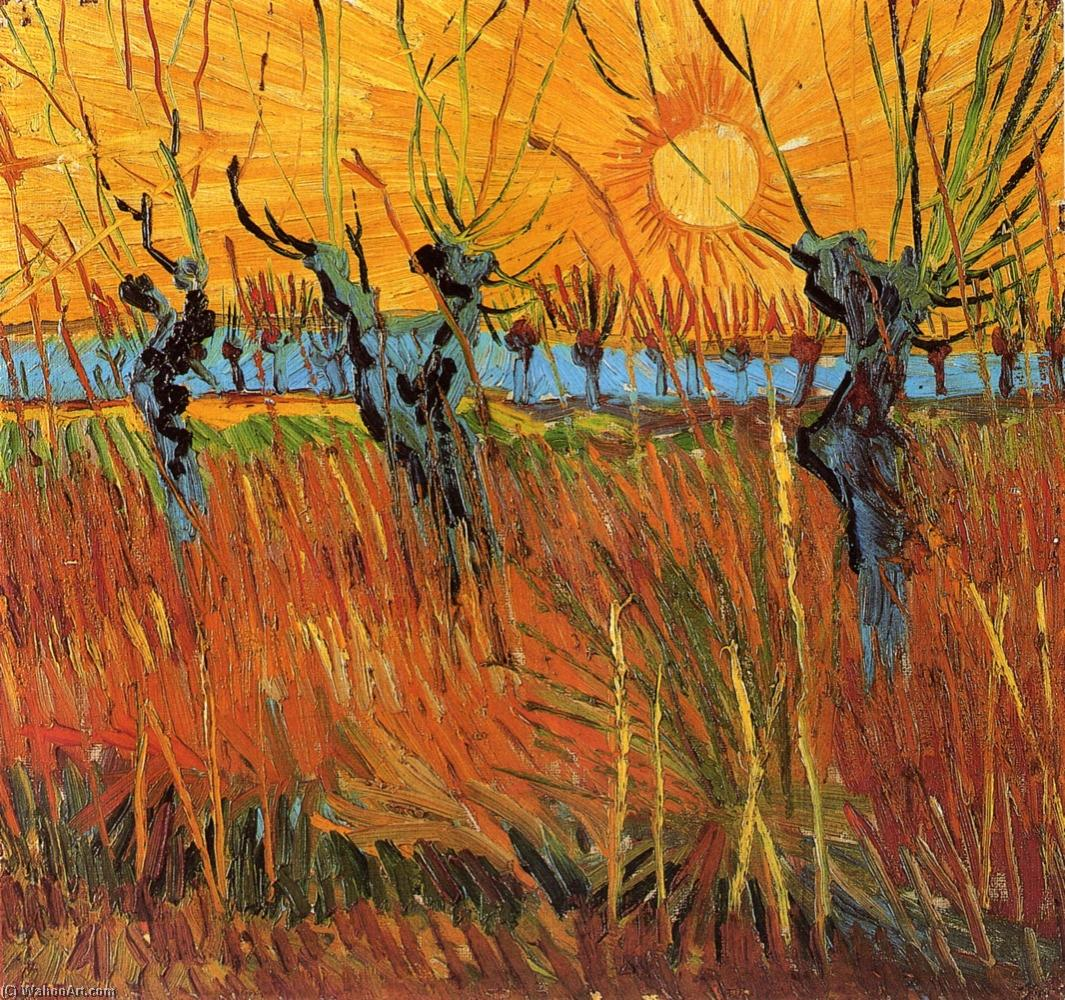 famous painting Salici al tramonto of Vincent Van Gogh