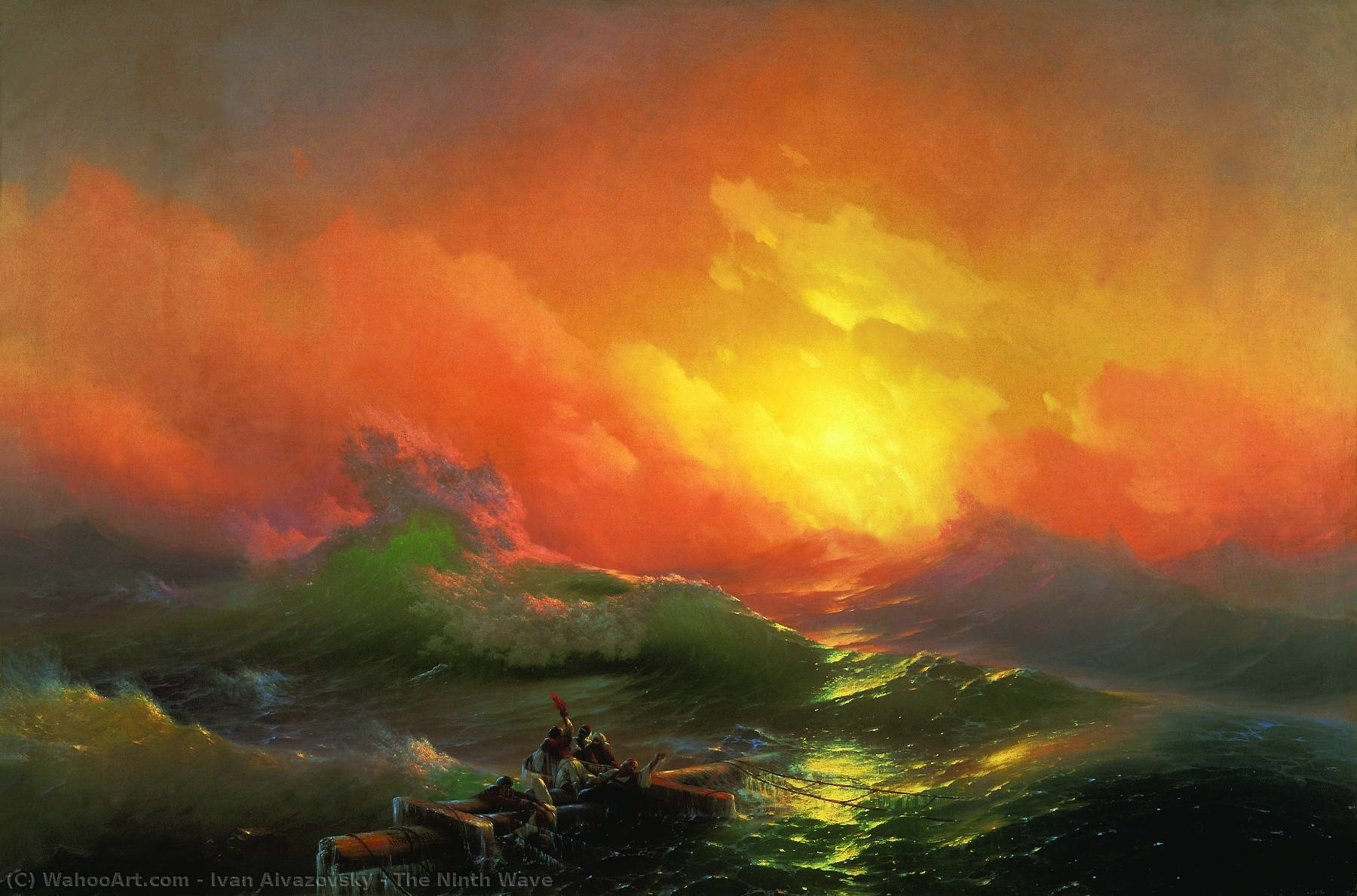 famous painting Il Ninth Wave of Ivan Aivazovsky