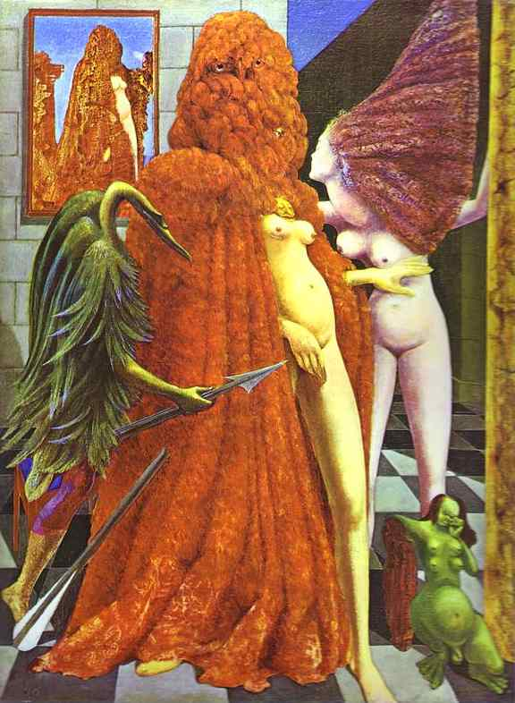 famous painting Il Robing della Sposa of Max Ernst