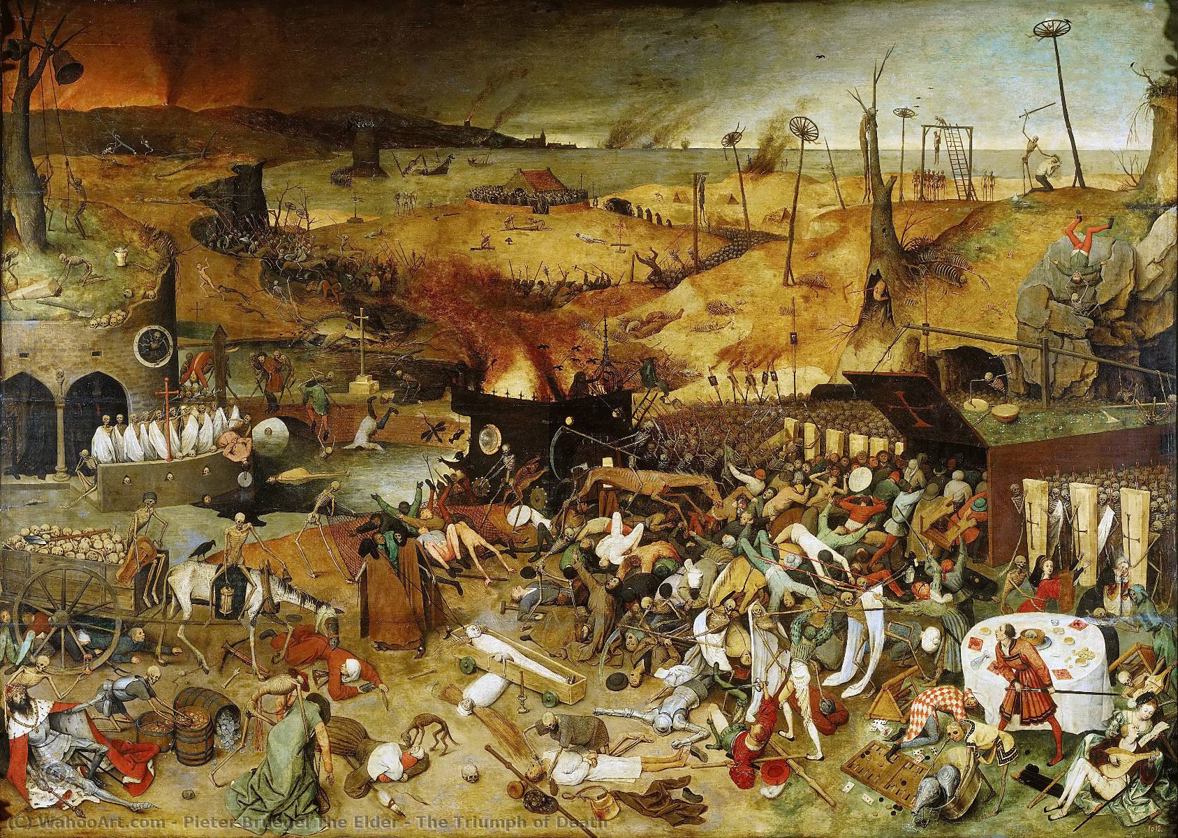 famous painting il trionfo della morte of Pieter Bruegel The Elder