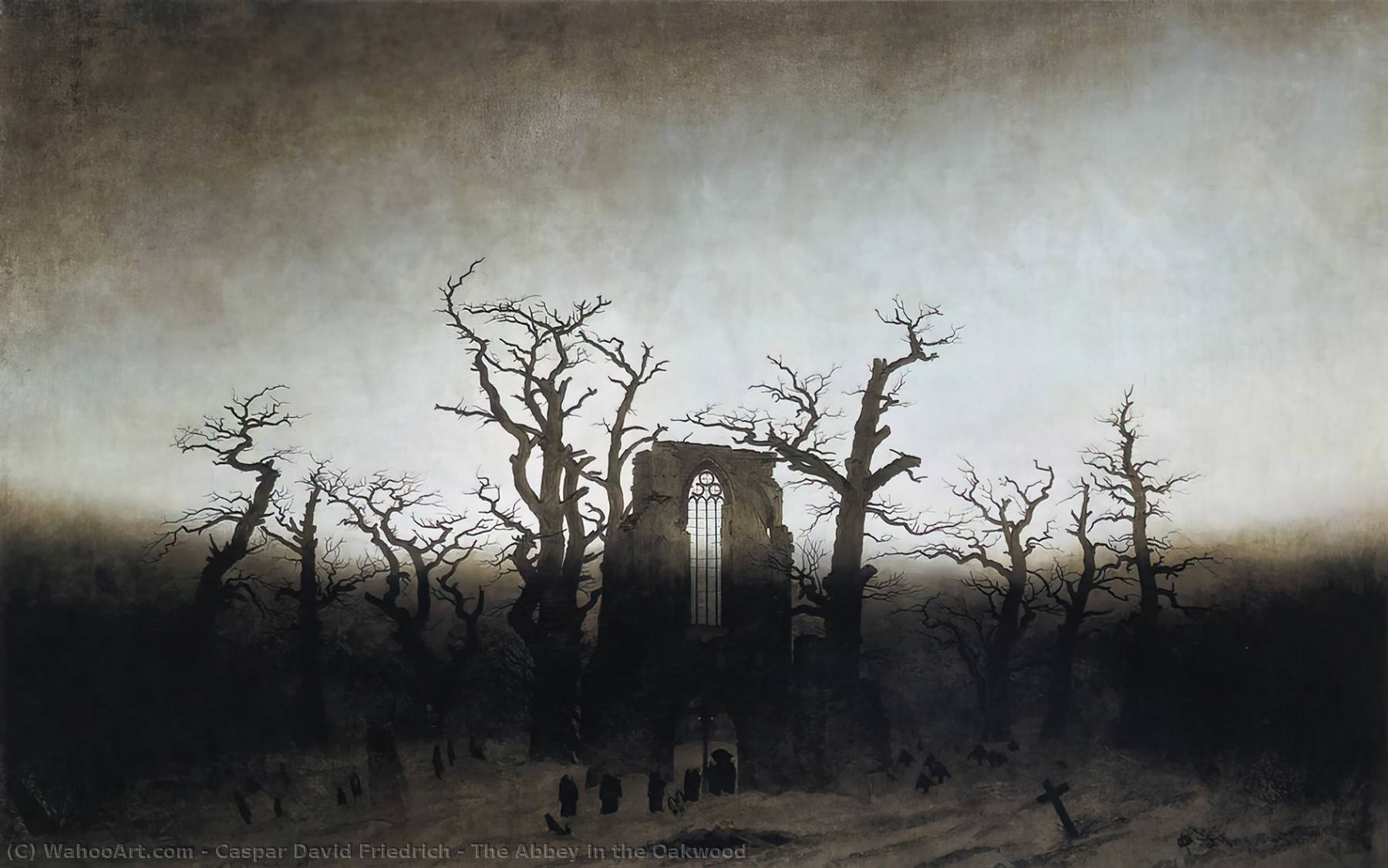 famous painting Abbazia nel querceto of Caspar David Friedrich