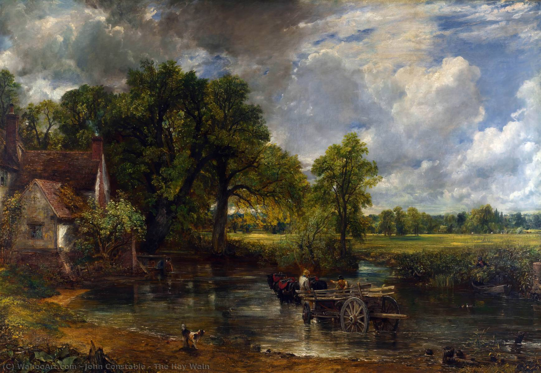 famous painting il fieno Gran carro  of John Constable