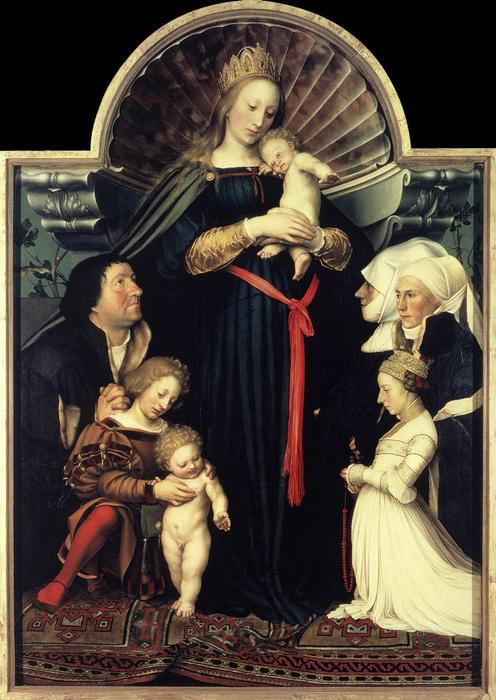 famous painting darmstadt madonna of Hans Holbein The Younger