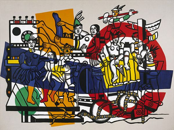 famous painting il grande parata of Fernand Leger