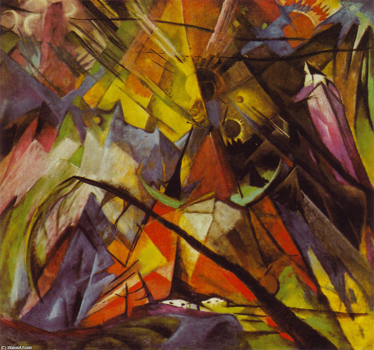 famous painting Tirolo of Franz Marc