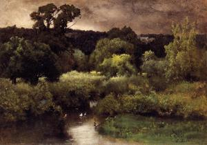 George Inness - Un Gray , `lowery` giorno