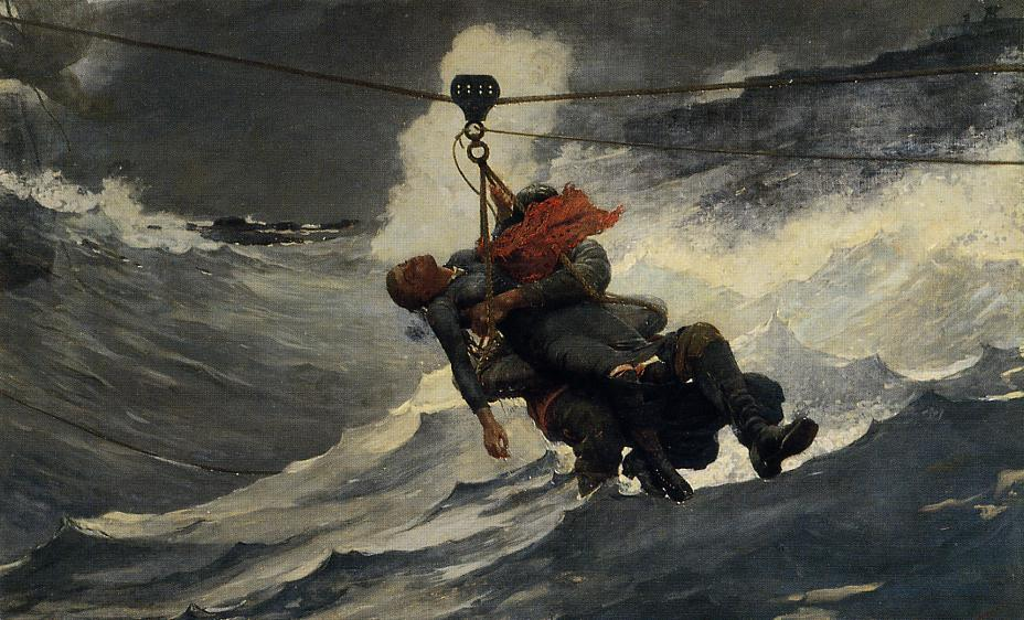 famous painting Il Life Line of Winslow Homer