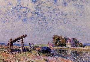 Alfred Sisley - Il Canale Loing a Saint Mammes