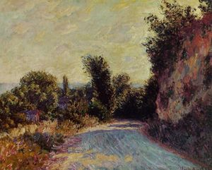 Claude Monet - strada vicino giverny