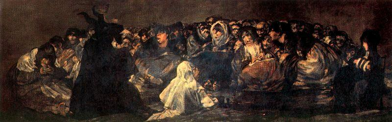 famous painting Sabato of Francisco De Goya