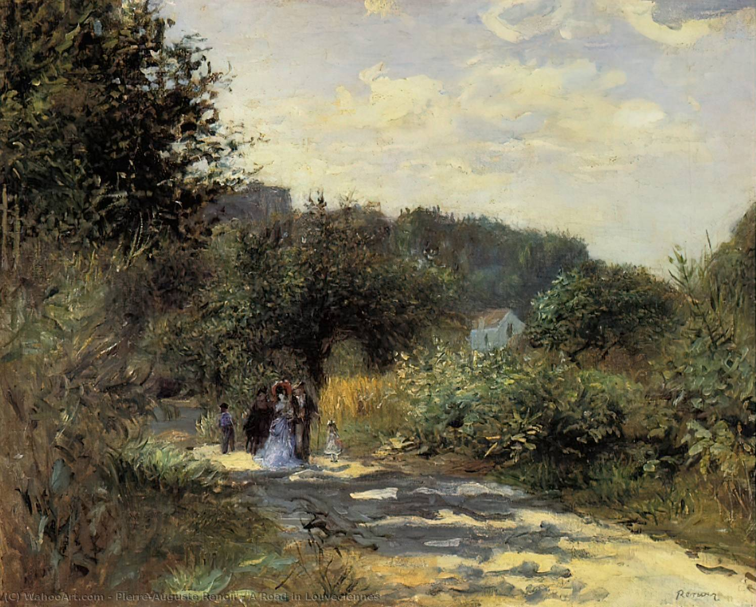 famous painting a strada in louveciennes of Pierre-Auguste Renoir
