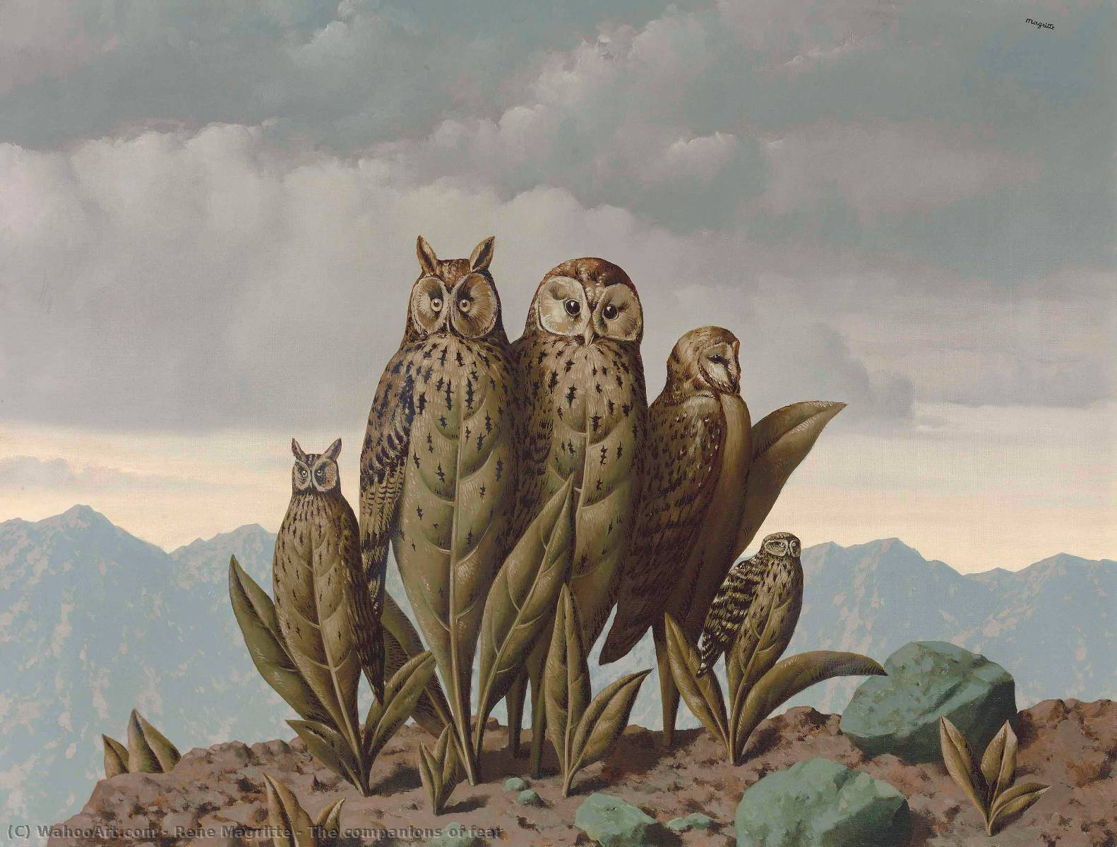 famous painting I compagni della paura of Rene Magritte