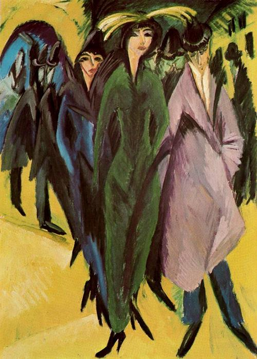 famous painting donne in il strada of Ernst Ludwig Kirchner