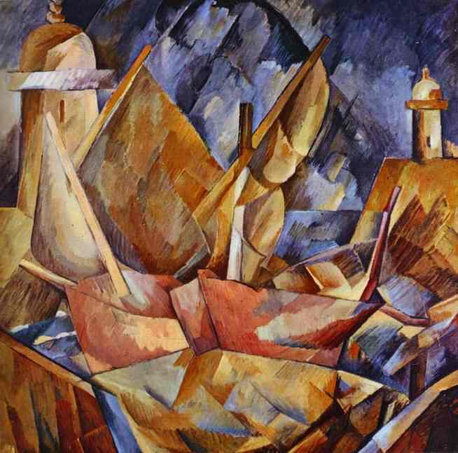 famous painting Porto in Normandia of Georges Braque