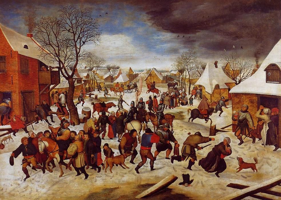 famous painting La strage degli innocenti of Pieter Bruegel The Younger