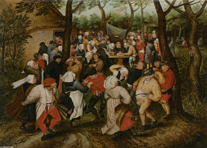 Pieter Bruegel The Younger - il matrimonio danza