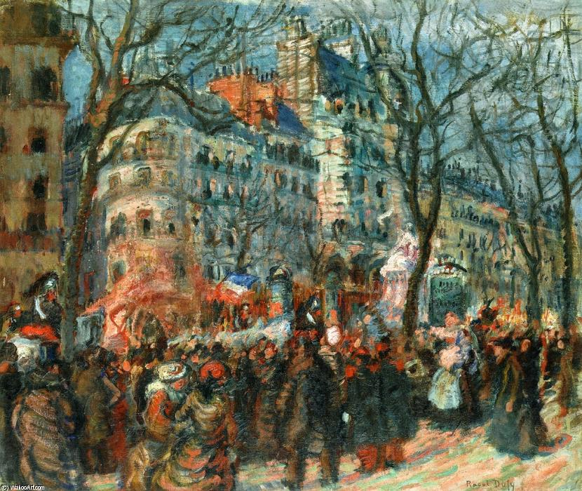 famous painting Carnevale Grands Boulevards of Raoul Dufy