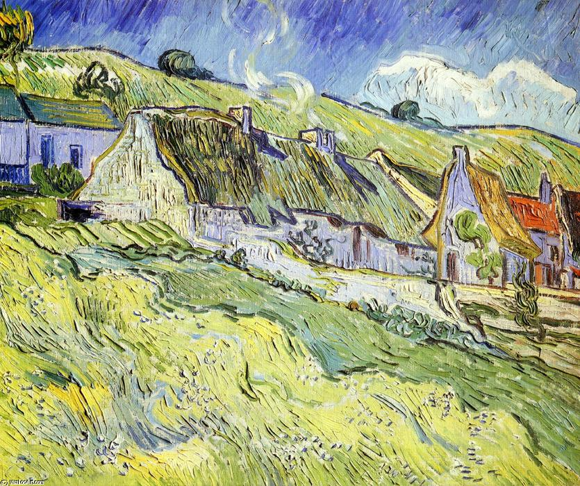 famous painting a gruppo di cottage of Vincent Van Gogh
