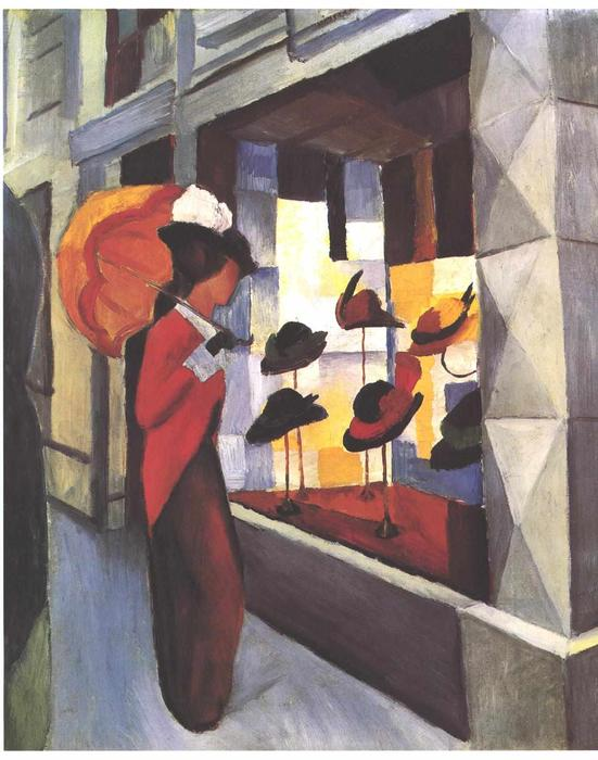 Ordinare Stampe Di Qualità Del Museo | The Hat negozio di August Macke | AllPaintingsStore.com