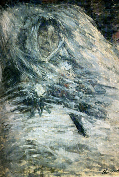 famous painting Camille Monet sul letto di morte of Claude Monet