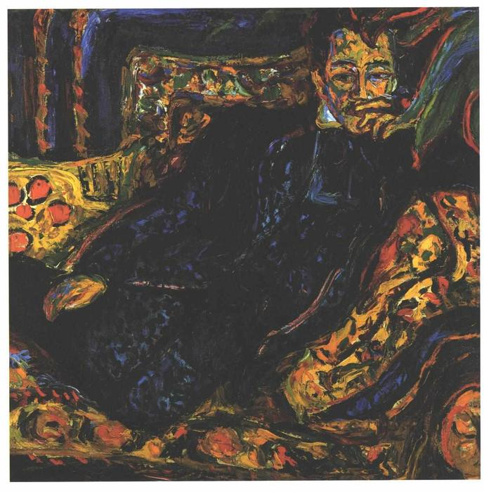famous painting ritratto di hans frisch of Ernst Ludwig Kirchner