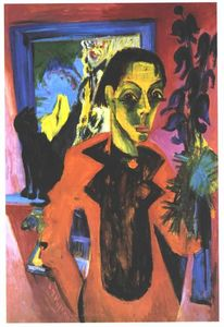 Ernst Ludwig Kirchner - autoritratto con ombra
