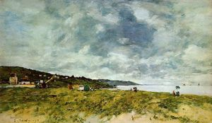 Eugène Louis Boudin - The Shore at Tourgeville