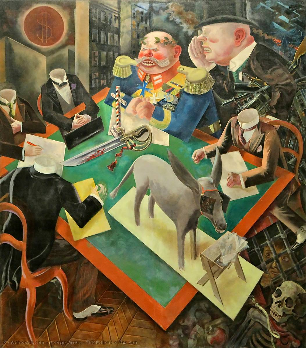 famous painting L eclissi di  dopodomani  sole  of George Grosz