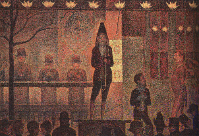 famous painting Circo Sideshow of Georges Pierre Seurat