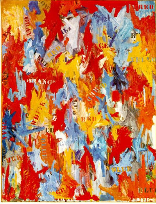 famous painting Falsa partenza of Jasper Johns