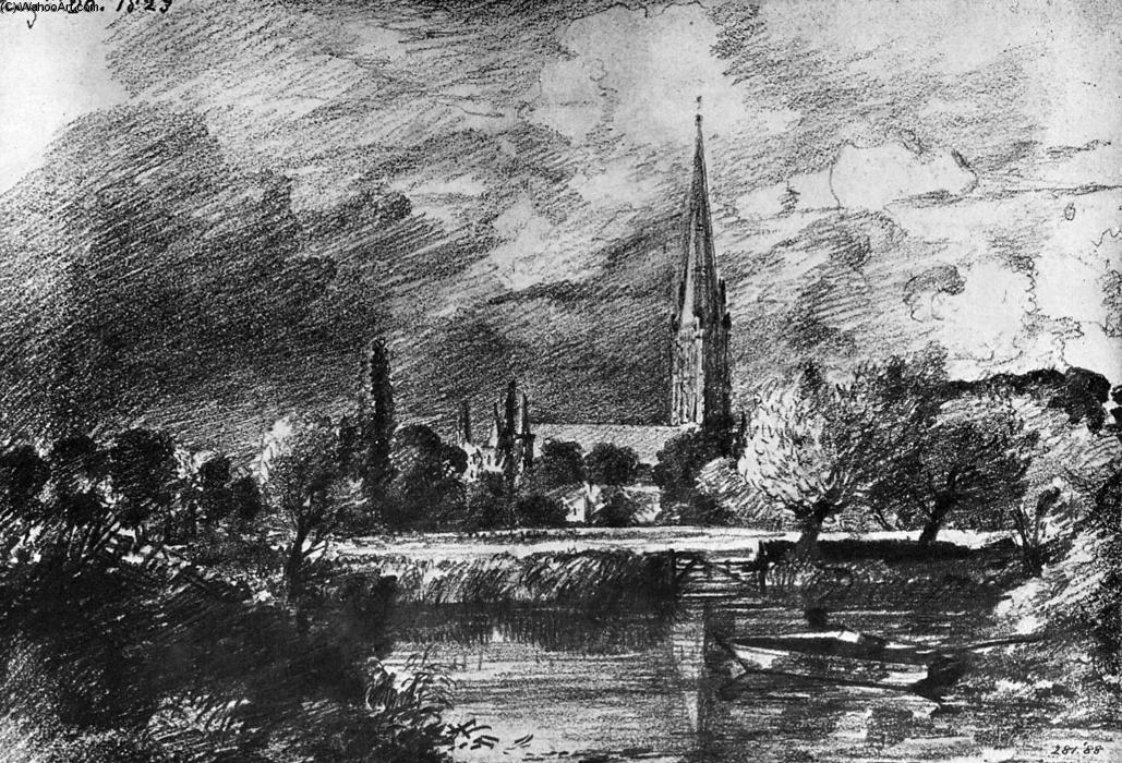 famous painting Cattedrale di salisbury of John Constable