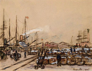 Maxime Emile Louis Maufra - Banchina a Le Havre