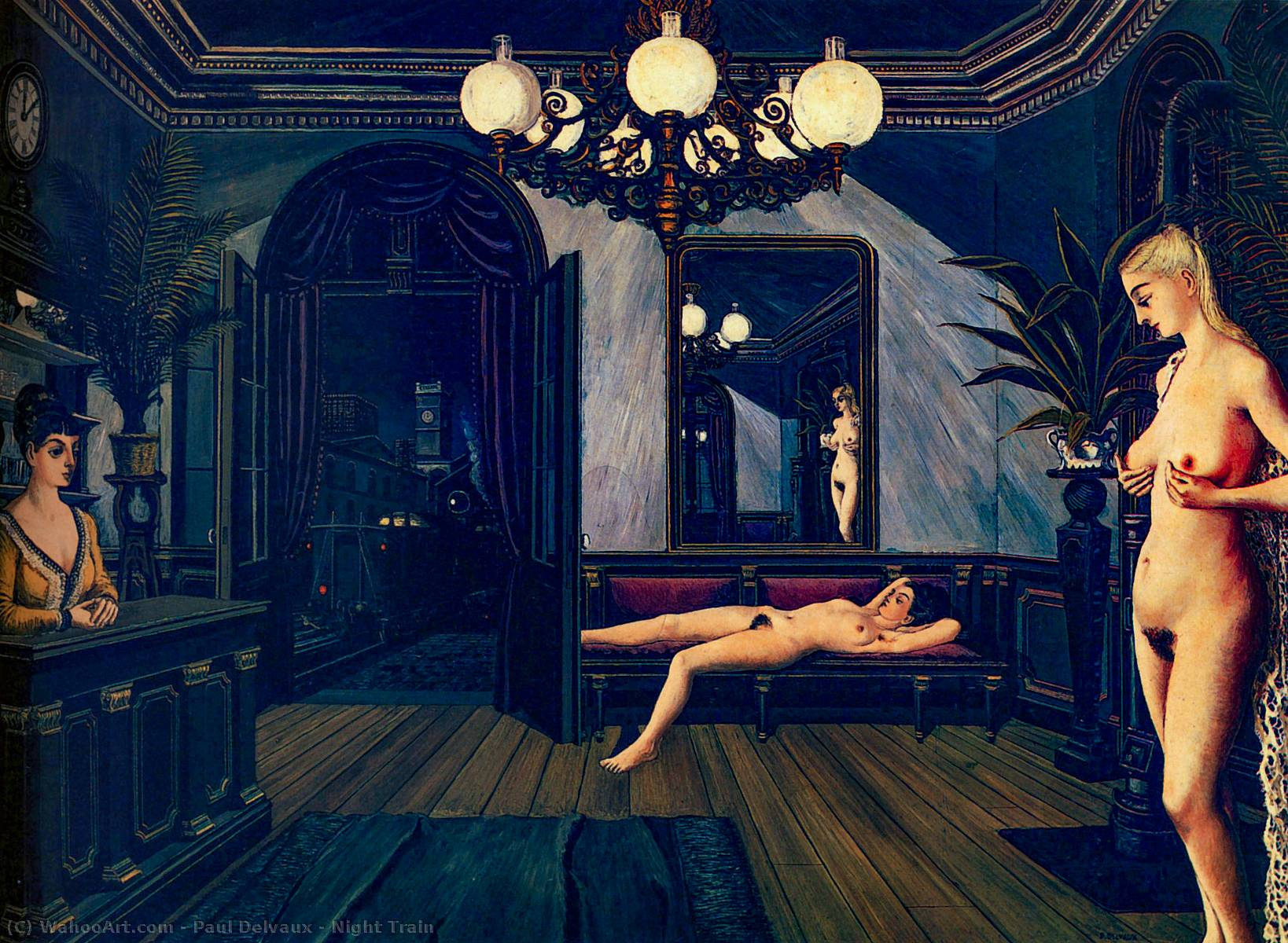 famous painting Notte treno  of Paul Delvaux