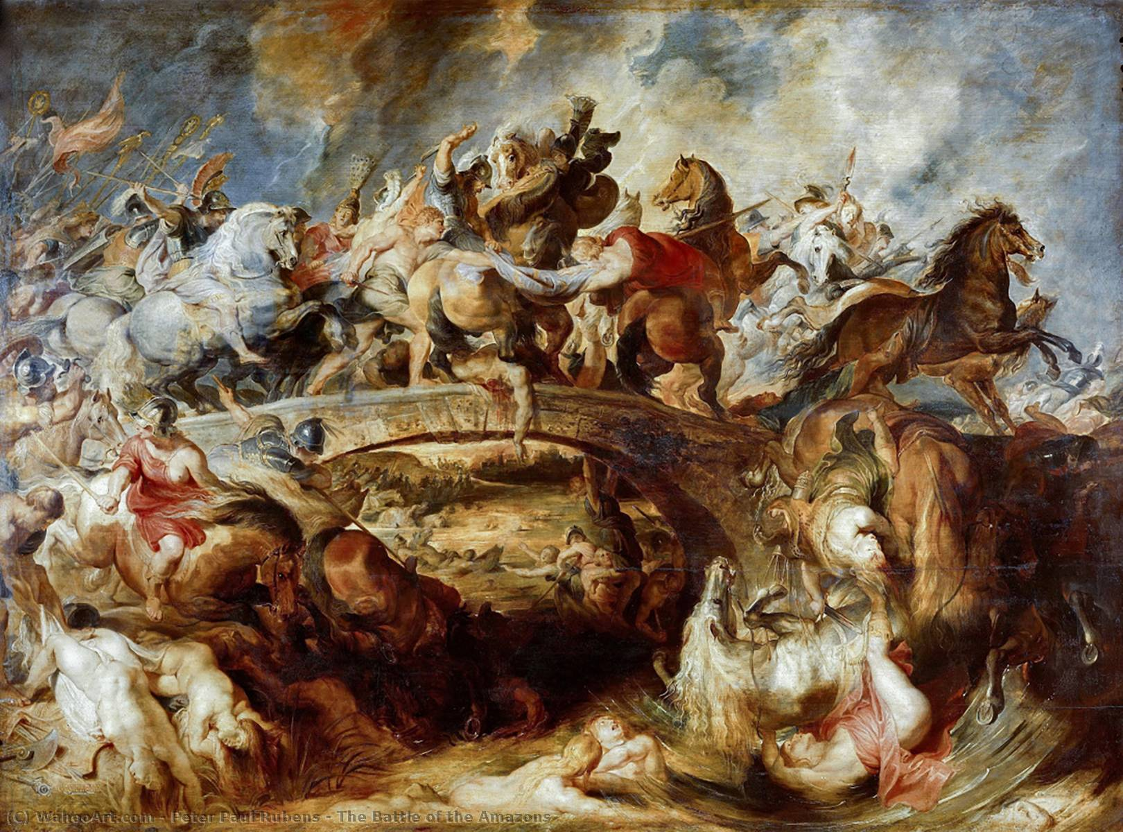famous painting la battaglia di le amazzoni of Peter Paul Rubens