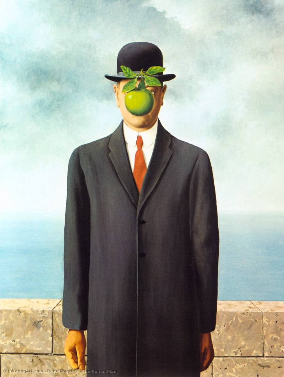 famous painting il figlio dell'uomo of Rene Magritte