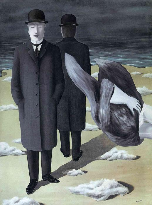 famous painting Il significato di  Notte  of Rene Magritte