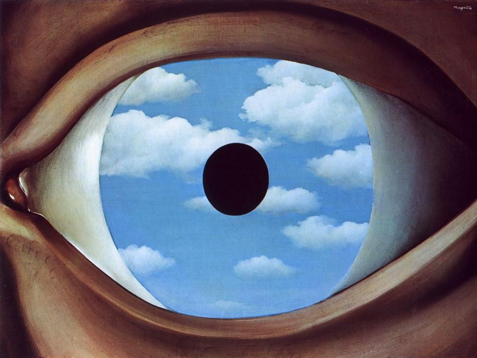 famous painting Il falso specchio  of Rene Magritte