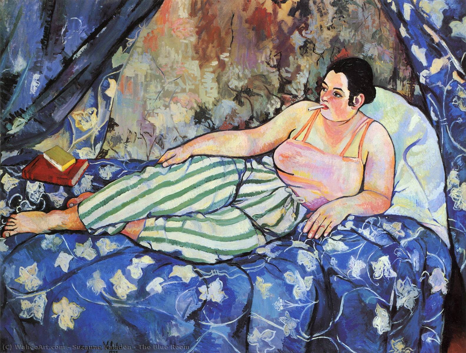famous painting il blu camera  of Suzanne Valadon