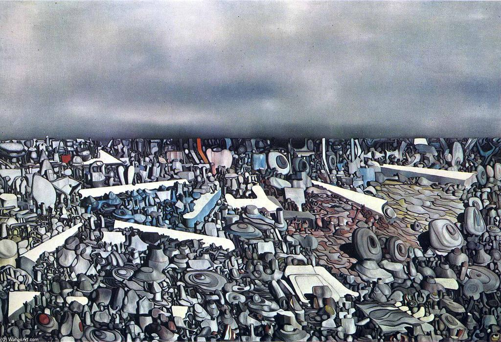 famous painting Multiplicatiion del Archi of Yves Tanguy