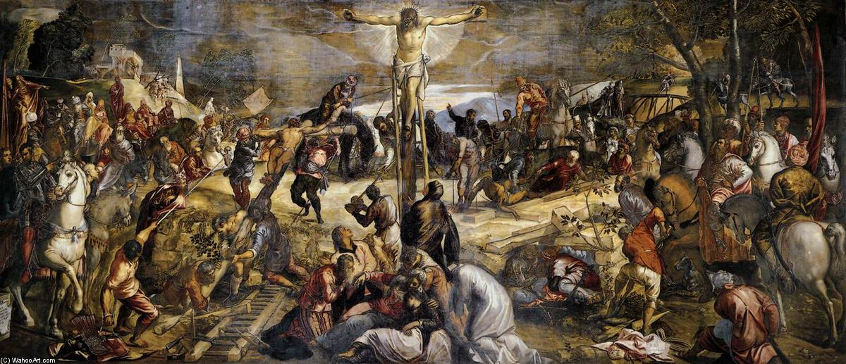 famous painting crocifissione of Tintoretto (Jacopo Comin)
