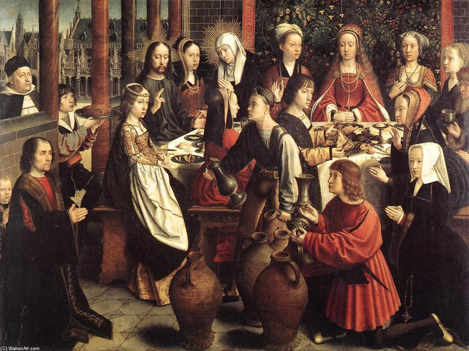 famous painting Le nozze di Cana of Gerard David